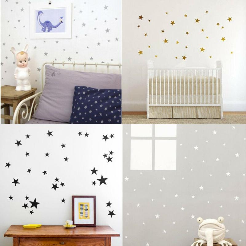Kids Room Vinyl Art Mural Pentagon Wall Sticker Little Stars