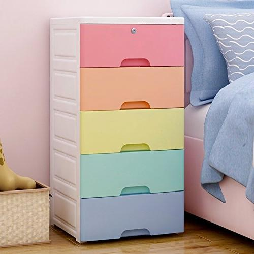 Nafenai Kids' Furniture Organizer, Colorful 5 Lock, Great for and Kids'Playroom,Durable and