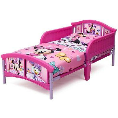 Kids Toddler Bed Girl Disney Minnie Children Bedroom Fun Pla