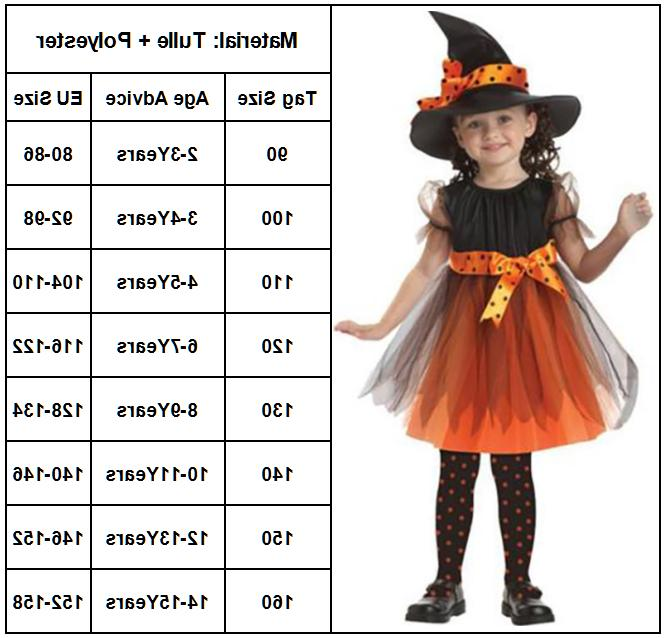 Kids Girls Costume Halloween Outfit