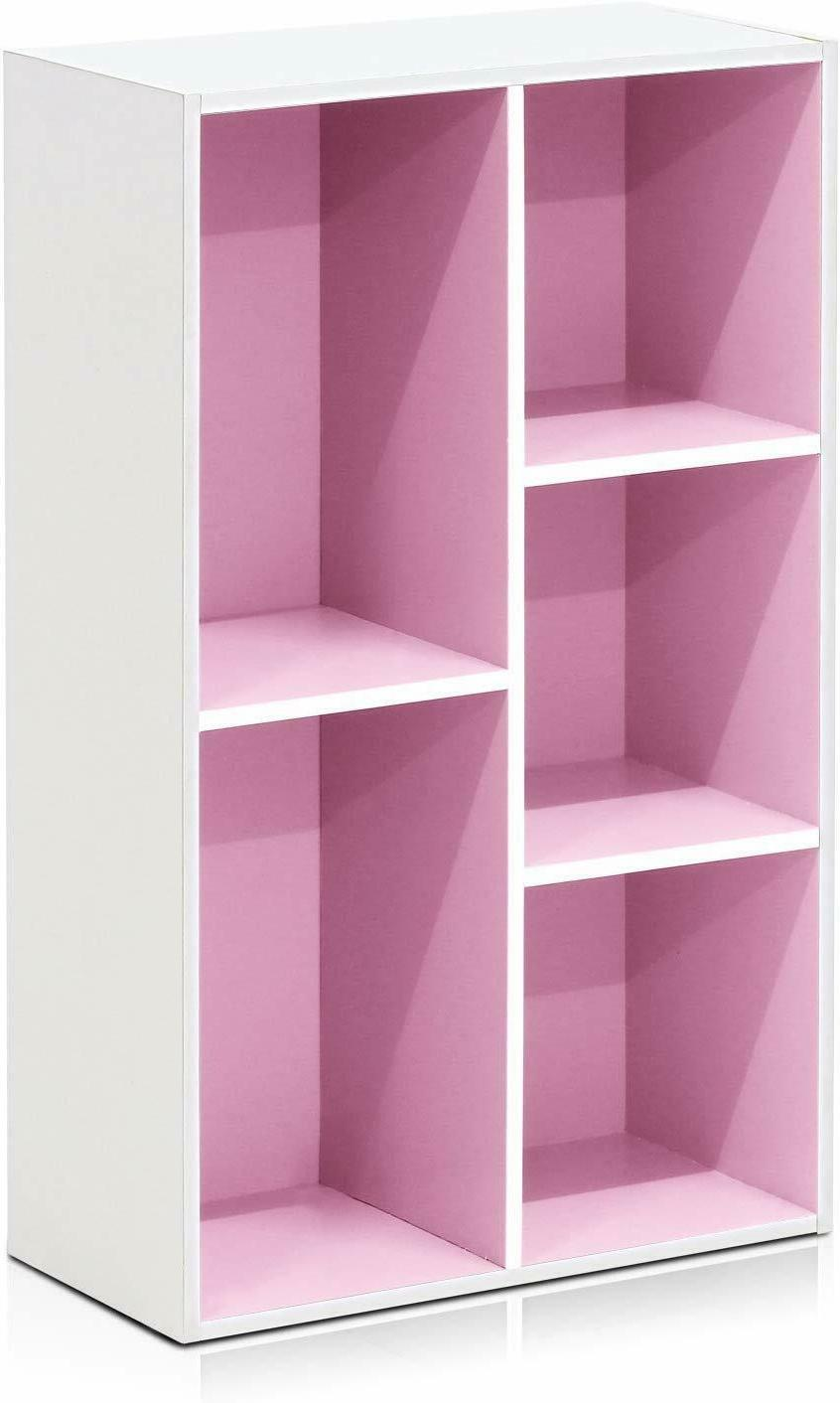 Kids and Pink Bookshelf Childrens Bookcase
