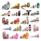 Kids Wooden Russian Nesting Dolls Matreshka Babushka Collect