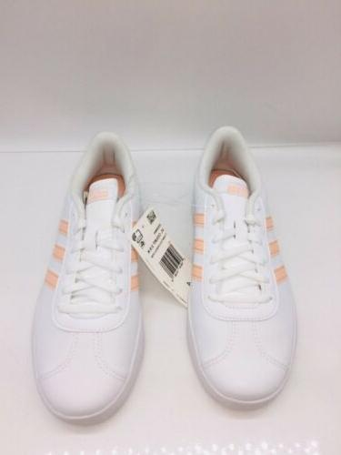 adidas Essentials Shoes White Pink US 1