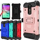 For LG Stylo 3/3 Plus Shockproof Case With Kickstand Belt Cl