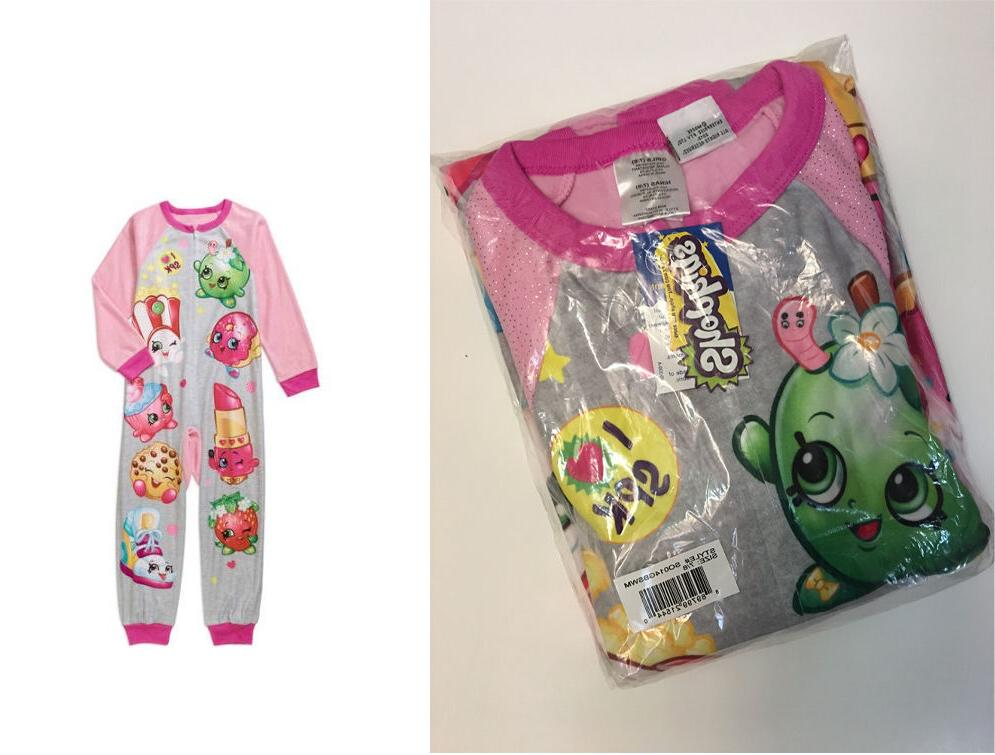 License shopkins ONE PIECE BLANKET SLEEPER PAJAMA SLEEP SET