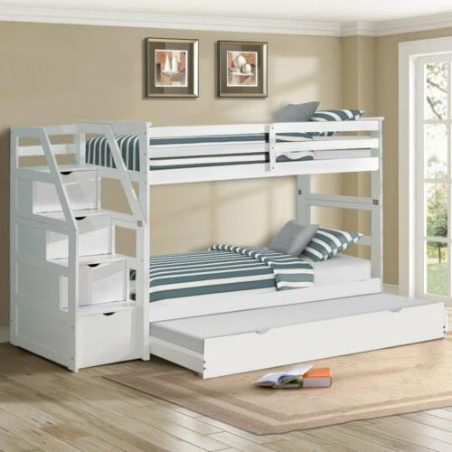 loft bed ladder with 4 storage drawers