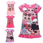 Lol Surprise Dolls Pajamas Kids Girl Cotton Sleepwear Nightg