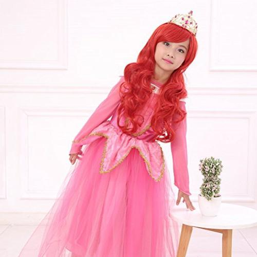 """Ani·Lnc 24"""" Long Red Synthetic Cosplay Hair Wig Children"""