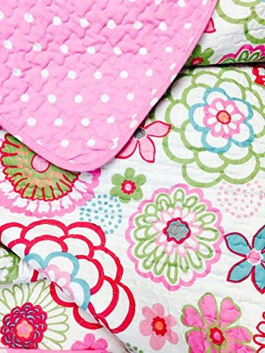 Cozy Line Home 2-Piece Quilt Set, Mariah Pink Lightweight Coverlet Bedding for Kids