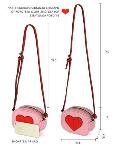 CMK Trendy Mini Heart Purse Handbags Cross...