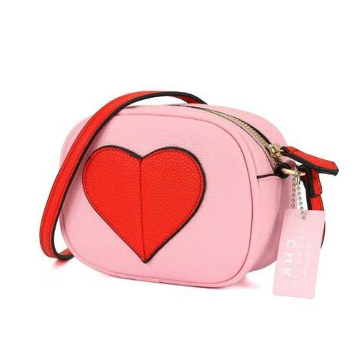 CMK Trendy Kids Heart Handbags for Girls Cross...