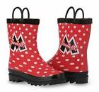 Disney Minnie Mouse Girl's Red Rain Boots  MNR39670WM
