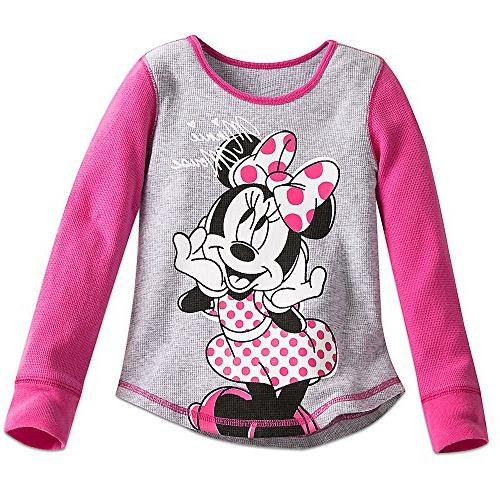 minnie mouse thermal tee