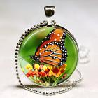 MONARCH BUTTERFLY NECKLACE Spring Easter Gift Orange Flower