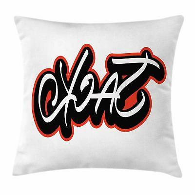 Name Throw Pillow Cases Cushion Covers by Ambesonne Home Acc