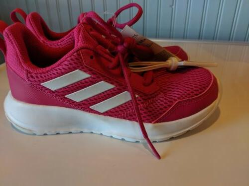 New! Adidas K Sneakers Pink White Girls Youth Size