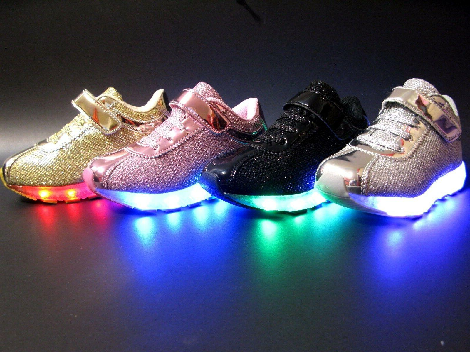 New Baby Toddler Girls And Kids Youth Light Up Shoes Recharg