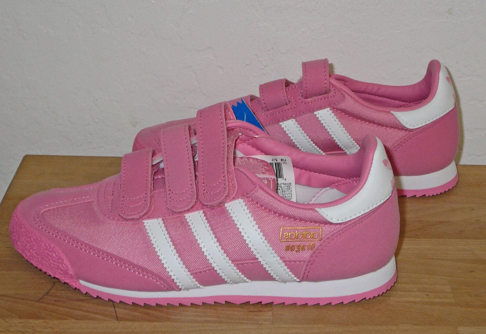 NEW Adidas Dragon OG Girls Pink Shoes Sneakers Childrens Kid