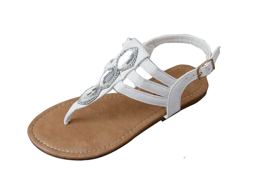 New Girls Kids Summer Buckle Sandals