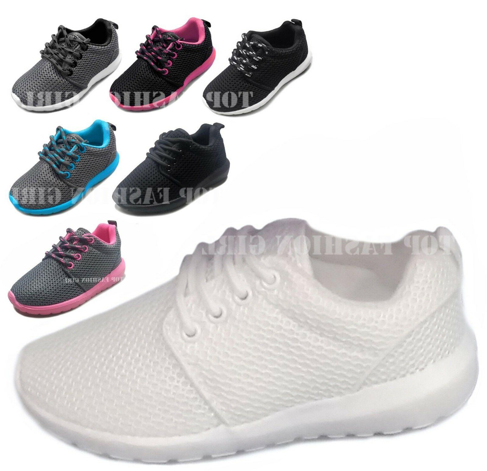 NEW Kids Boys Girls Mesh Sneaker Lace Up Sporty Tennis Shoe