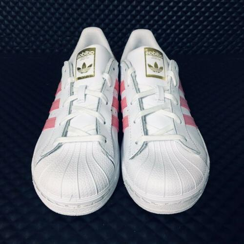 *NEW* Superstar C Shell Toe Skate Girls White Pink