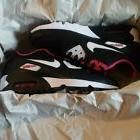 Nike Girls Air Max 90 Mesh Gs Big Kids 833340-002 Black Pink