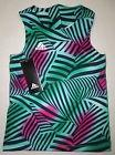 NWT ADIDAS Little Girls Twist Back Tank Top Optic Wave Green