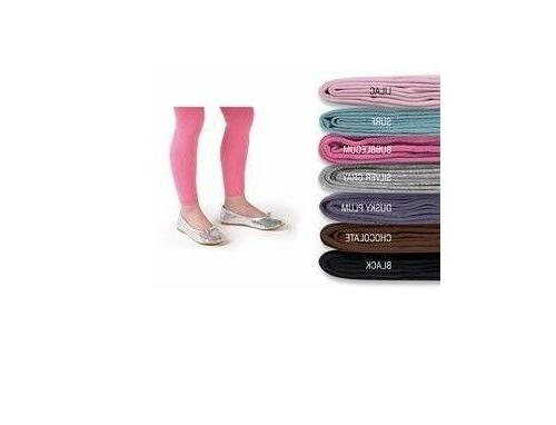 organic cotton girls footless tights size 9
