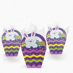 Fun Express Paper Easter Basket-shaped Gift Bags