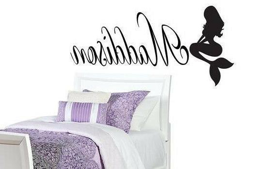 PERSONALIZED NAME MERMAID Girls Vinyl Wall Art Decal Kids Ch