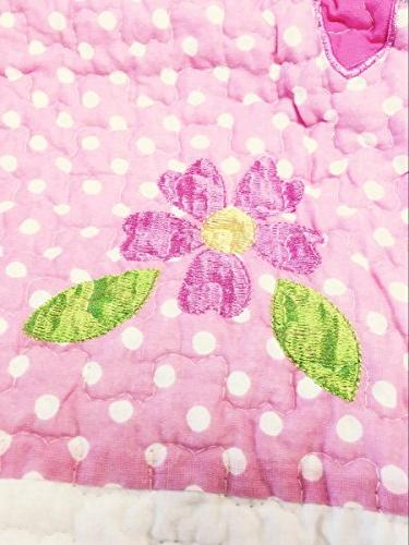 Cozy Cute Owl Pink Green Birds Print Bedding Quilt Coverlet, 100 COTTON, Gifts Girls