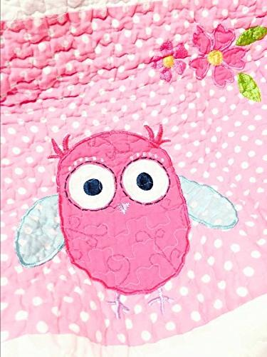 Cozy Line 7-Piece Pink White Bedspread for