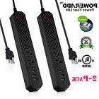 2 x 6 Outlet 3 USB Charging Port Surge Protector Power Strip