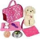 """Puppy Play Set Pet For 18"""" American Girl Dolls Dog Kids Pret"""