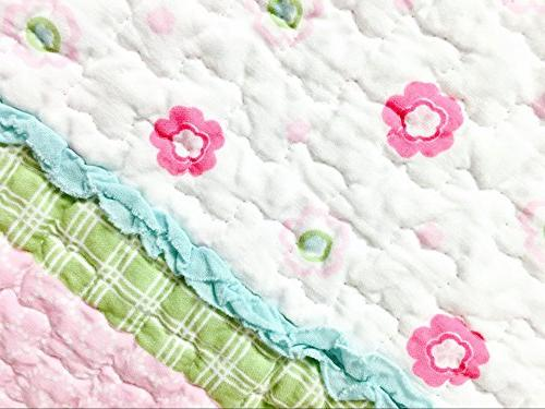 Cozy Dot Flower 100% Cotton Bedspread Coverlet, for Kids