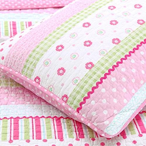 Cozy Line Home 6-Piece Pink Dot Bedspread Kids