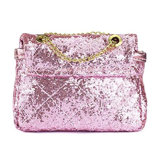 CMK Trendy Bling Crossbody Handbags for with Metal Chain