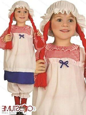 Rag Doll Girls Toddler Costume by Forum Novelties Kids New H