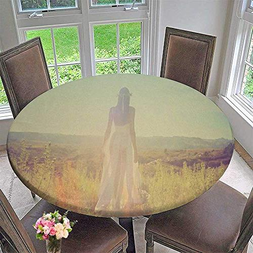 round table tablecloth magnificent girl