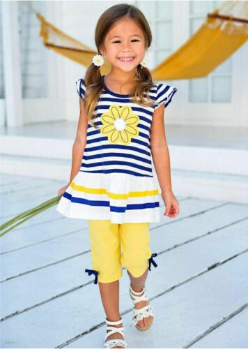 Summer Girls Outfits Clothes Pants Shorts Set