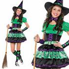 Teens Witch Costume Fancy Dress Kids Girls Cute Halloween 10