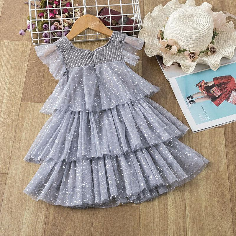 Baby Kids Dresses Summer Tutu Party Size 3-8