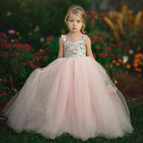 Toddler Princess Dress Wedding Lace