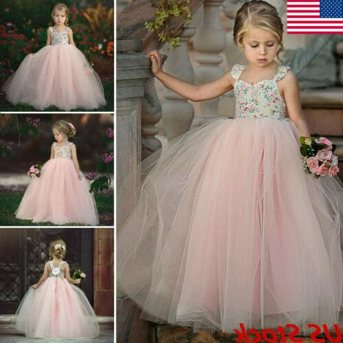 toddler flower girl princess dress kids baby