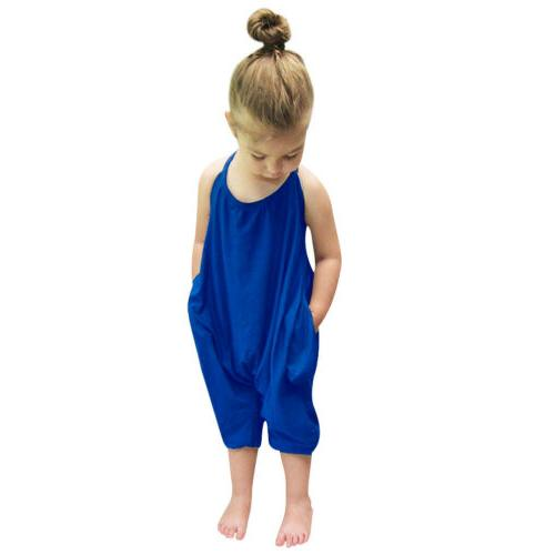 Toddler Baby Summer Strap Romper Harem Outfits
