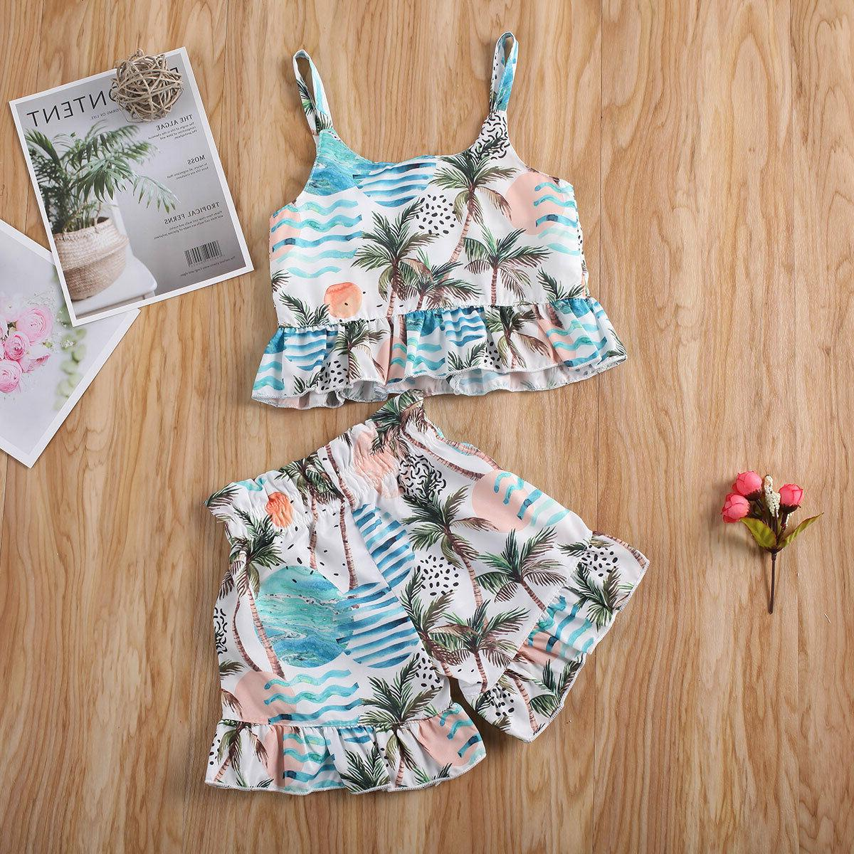 Toddler Baby Girls T-shirt Tops+Short Summer Outfits Clothes