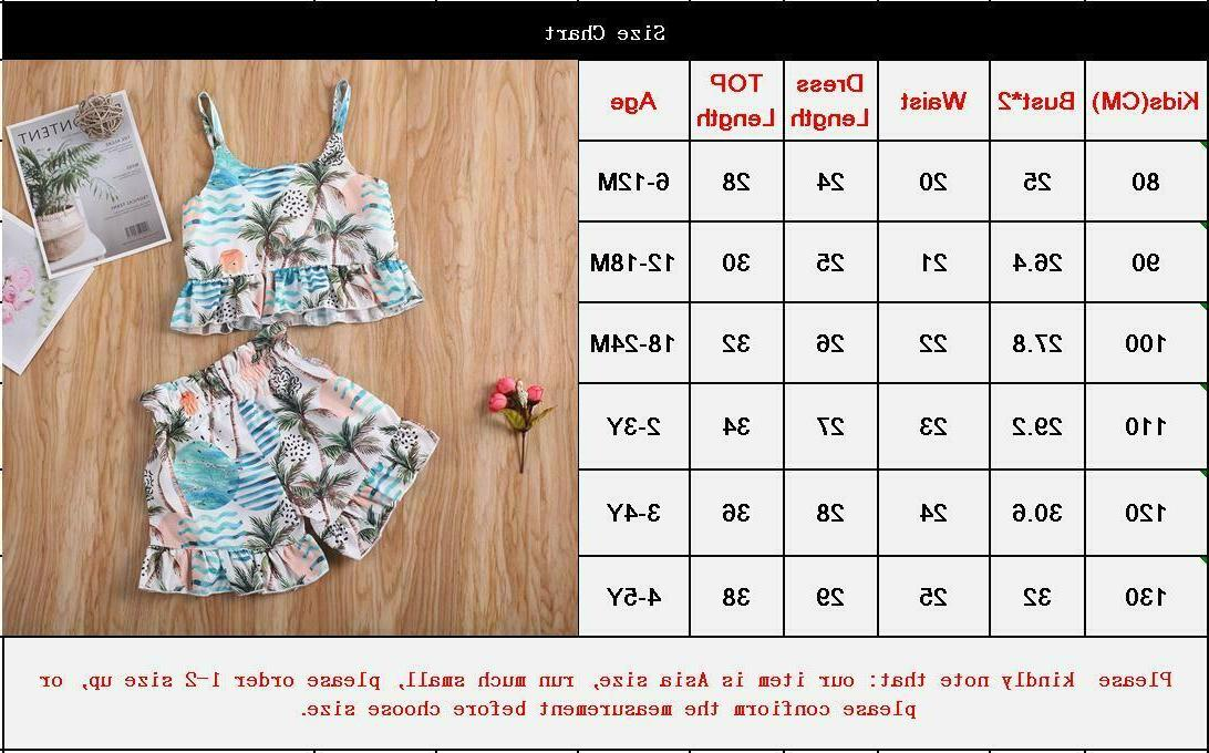 Toddler Kids Baby Girls Outfits Clothes
