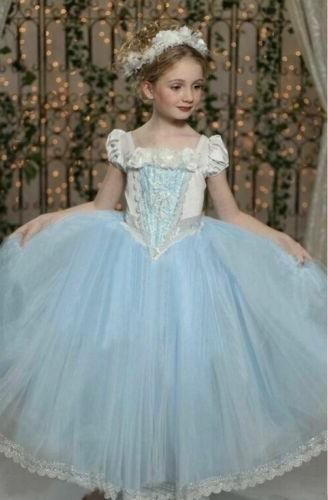 Toddler Dresses Costume White Princess Party Fancy Cape