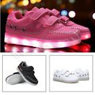 Toddler Kids Youth Light Up Shoes Rechargeable USB LED Sneak