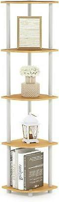 Furinno Turn 5 Tier Particle Beech White
